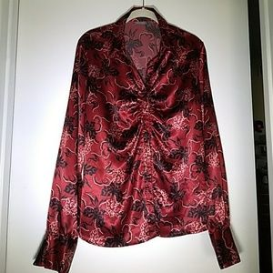 Apt. 9 Red blouse women's size large